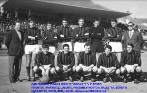Passirio squadra del 1968 1969