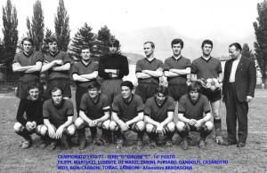 Passirio squadra del 1970 1971