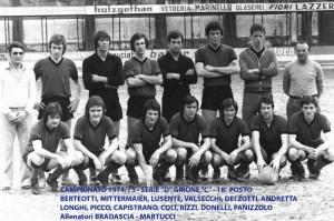 Passirio squadra 1974 1975