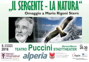 Il sergente, la natura. Omaggio a Rigoni Stern a Merano, Passirio Club, Winefestival