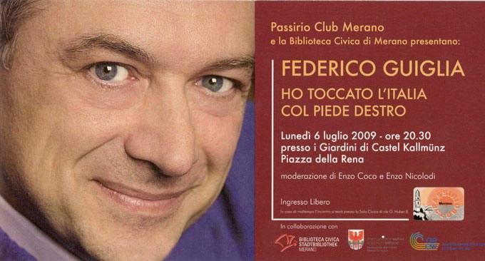 Passirio Club Merano - Ospiti e eventi 2009 federico guiglia