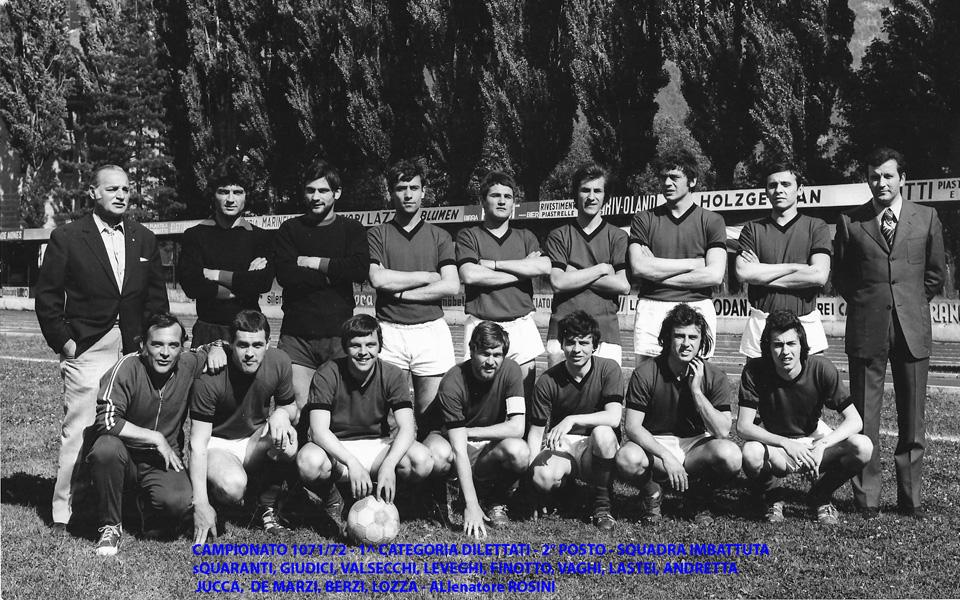 Passirio squadre 1971-1972