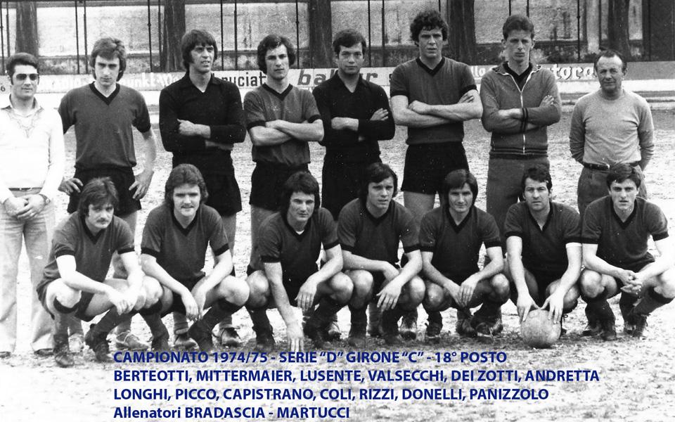 Passirio squadra 1974-1975