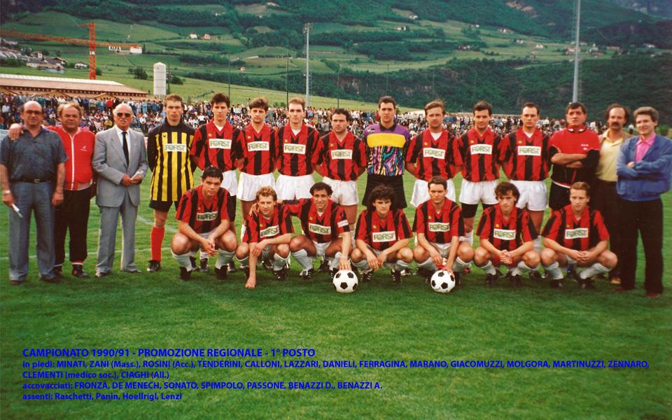 Passirio squadra 1990-1991