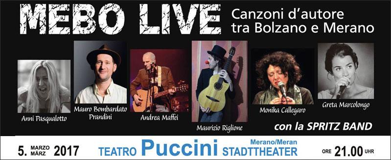 Mebo Live – Canzoni d'autore tra Bolzano e Merano