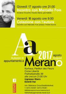 marcello fois appuntamento a merano 2017