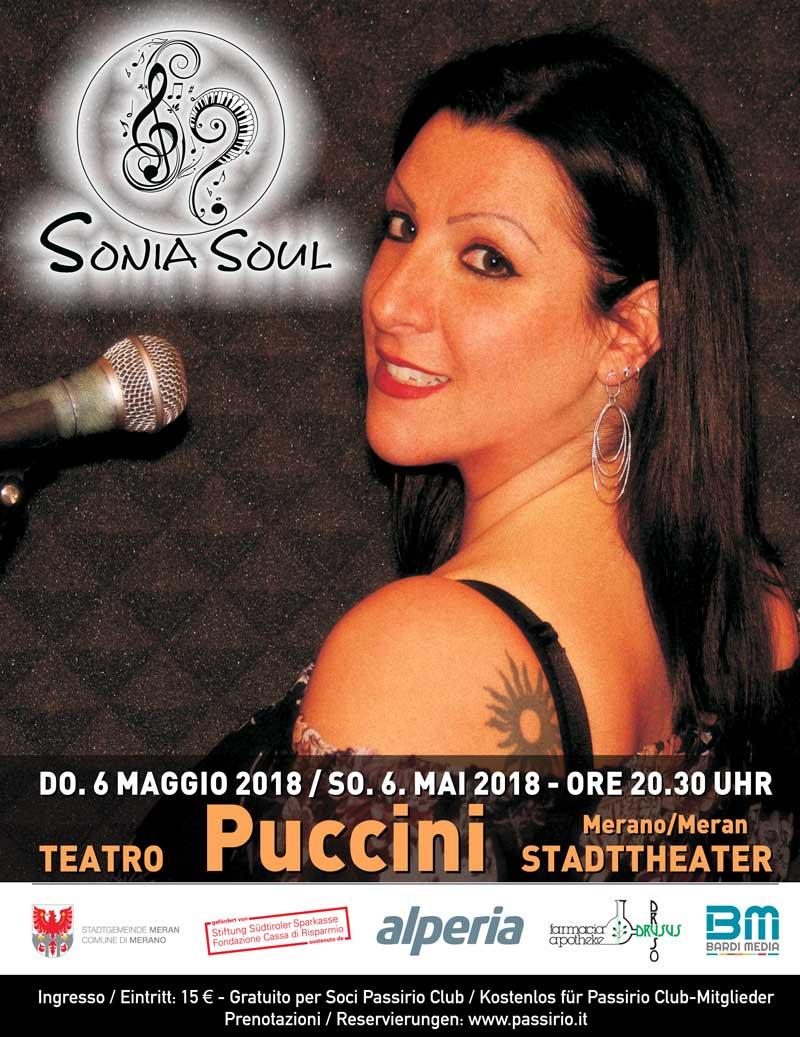 Sonia Soul manifesto del concerto di Sonia Ferrari