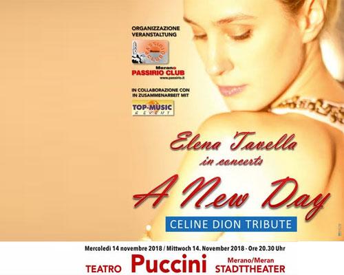 Elena Tavella in concerto a Merano Celine Dior Tribute
