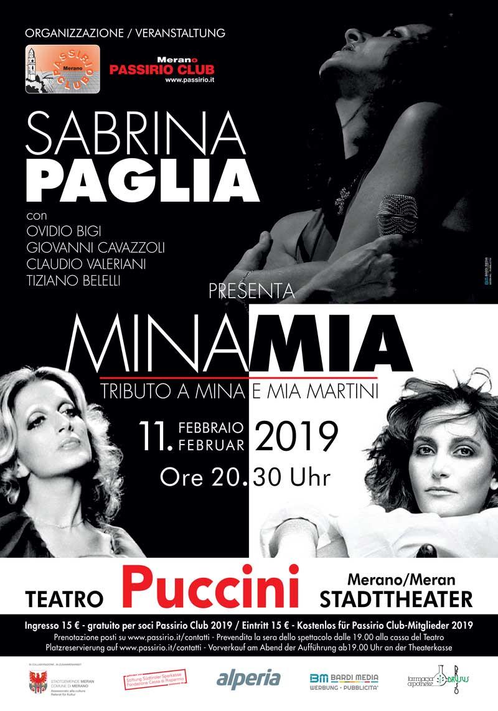 Sabrina Paglia interpreta Mina e Mia Martini