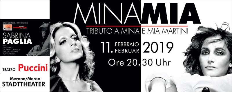 MinaMia. Sabrina Paglia interpreta Mina e Mia Martini a Merano