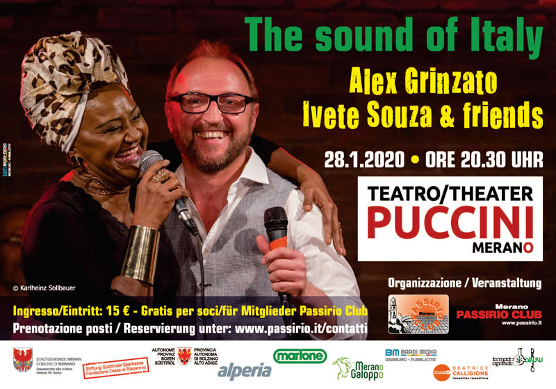 Alex Grinzato e Ivete Souza in concerto a Merano